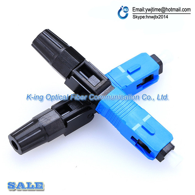 100pcs Fiber Optic Fast Connector SC/UPC Covered Wire Connector for Broadcasting CATV / FTTH,Free Shipping