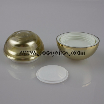 100pcs golden 15g  acrylic jars for cosmetics ,buy 15g acrylic gold jars online ,  15g gold acrylic jars wholesale