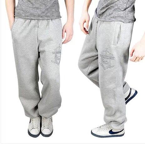 2016 зима мужчины свободные брюки уличные брюки моды удобные теплые хлопка случайные штаны паркур плюс размер