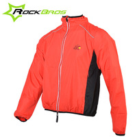 ROCKBROS Cycling Jersey With Hood Sports Reflective Bike Long Sleeve Wind Coat Windproof Bicycle Jersey Jacket