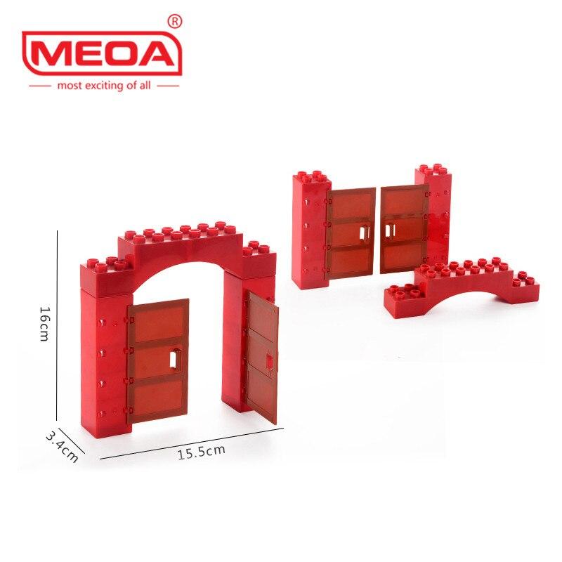Doplo Big Size House Door Parts Window Block Amusement Park Theme Bricks For Children Toys Compatible