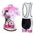 2018 PRO Team Женская одежда для велоспорта Ropa Ciclismo комплект для велоспорта для девочек Джерси и шорты костюм