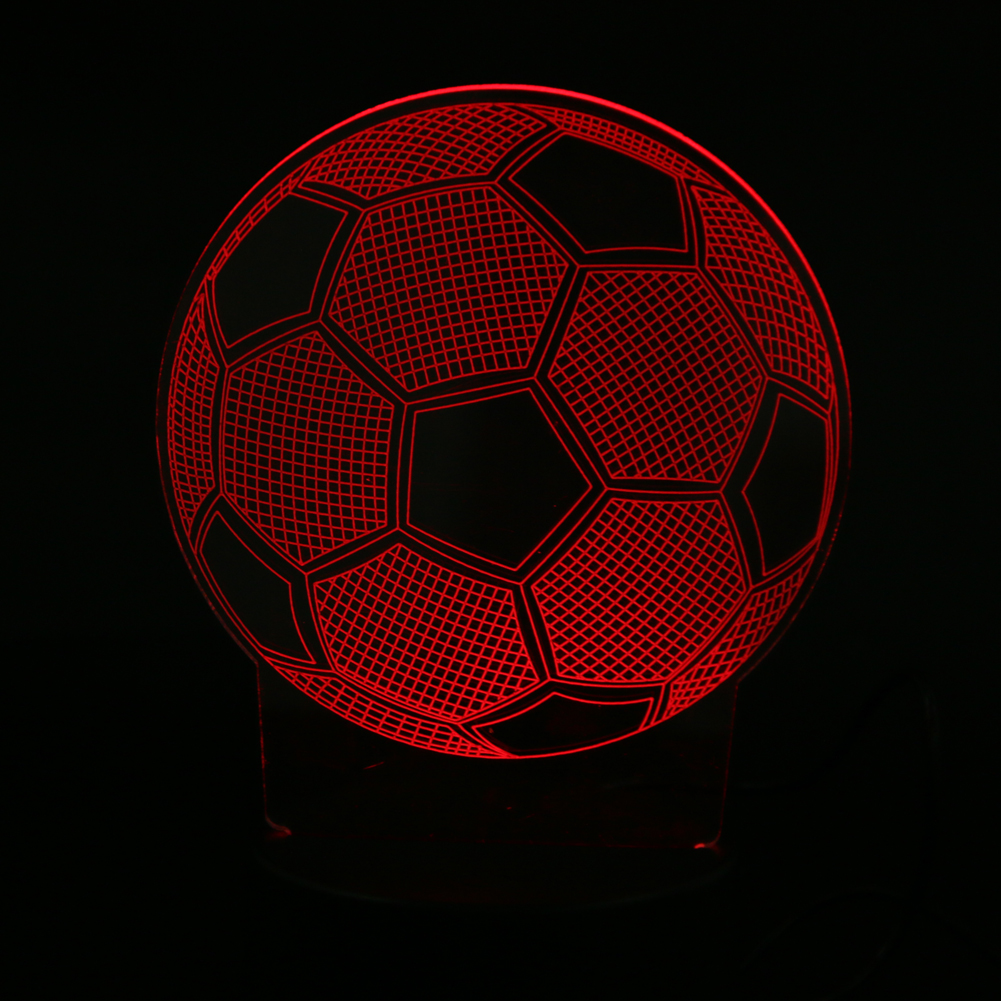 3D illusion Lamp LED Night Lights 3D Football Discoloration Colorful Atmosphere Lamp Bedroom Bedside Light
