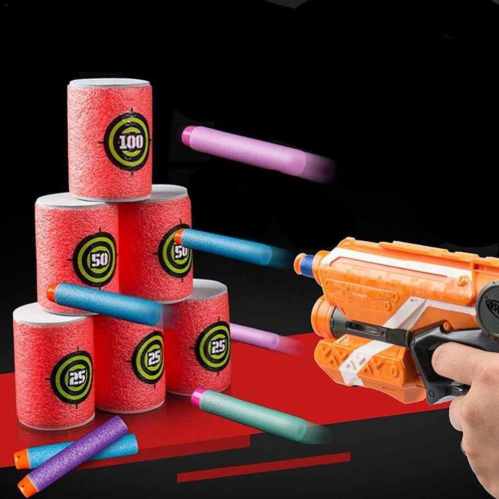 Nowy 2019 pistolet do piany strzelać EVA miękki pocisk cel strzał Dart zabawki dla dzieci dla NERF n-strike Elite gry dla miotacze gra w rzutki