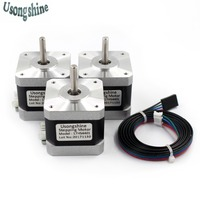 3pcs Lot CE Certification V5V6 4 Lead Nema17 Stepper Motor 42 Motor Nema 17 Motor 42BYGH