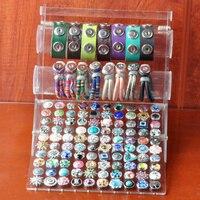 Botón A Presión Rivca Joyas Nueva Exhibición De Acrílico Pantalla Desmontable Set Snap Botones Pulseras Del Encanto Pulsera de Los Brazaletes mujeres P00629