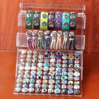 Rivca Snap Button Jewelry New Acrylic Display Bracelet Bangles Detachable Set Snap Buttons Display Charm Bracelets