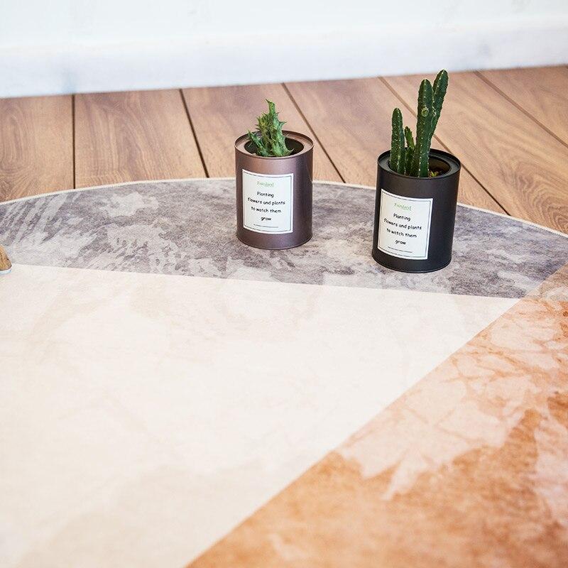 Tapis rond Style minimaliste nordique Loartee chambre salon cuisine salle d'étude décoration de la maison tapis tapis de chambre d'enfants Tapetes - 4