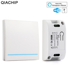 RF Wifi Switch 433MHz 10A/2200W Wireless 86 Type ON/Off Panel WiFi Remote Control Transmitter