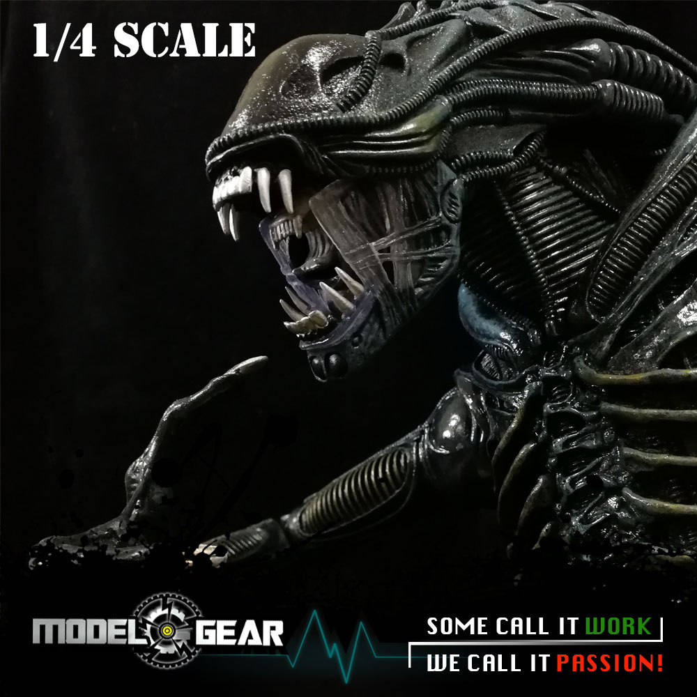 NECA 1/4 Scale XENOMORPH Warrior Alien PVC 1986 Version Action Figure Model Toy 18'' neca planet of the apes gorilla soldier pvc action figure collectible toy 8 20cm