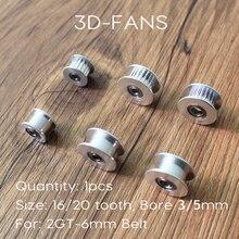 GT2 Ролик 20 & 16 С Зубами или Без Зубов Шкив передач Диаметр 5 ММ и 3 ММ Для GT2 Ширина ленты 6 ММ Для 3D принтер