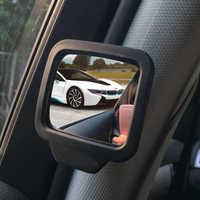 2 unids/set espejo retrovisor para coche asiento de bebé del coche del espejo punto ciego espejo 360 ajustable Monitor de seguridad accesorios para automóvil
