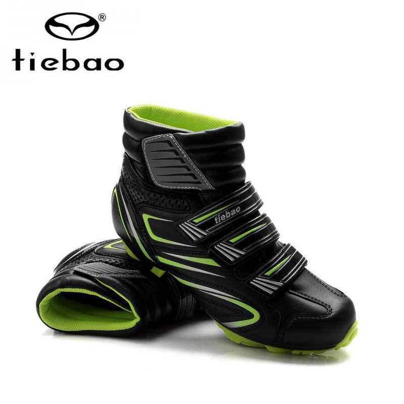 Tiebao sapatilha ciclismo الجبلية الدراجات أحذية الشتاء الرجال أحذية رياضية النساء دراجة هوائية جبلية دراجة أحذية دافئة