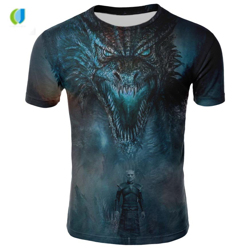 Night King Game Of Thrones T Shirt: 2018 Summer Hot Sale Game Of Thrones T Shirt 3d T Shirt