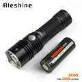 New AceBeam EC60 Rescue Flashlight CREE Xhp35 2000 Lumens 603M Outdoor Searching Side Switch Light +1pcs 5000mAh 26650 Battery