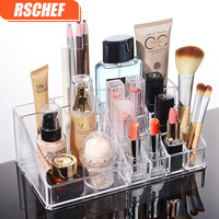 12 Slot Trasparente Acrilico Scatola Di Immagazzinaggio di Trucco Rossetto Lip Balm Lip Gloss Cosmetici Organizzatore di Visualizzazione Holder