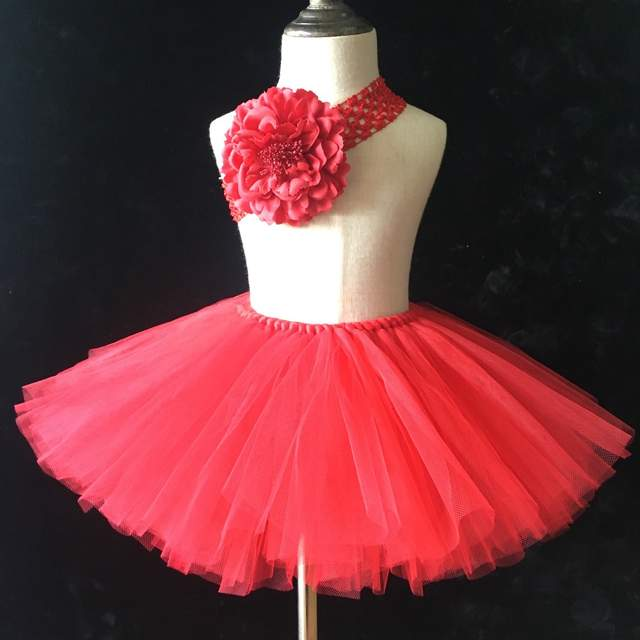 c7b45e2700d5 Online Shop Hot Retail Girls Red Tutu Skirts Baby Handmade Fluffy ...