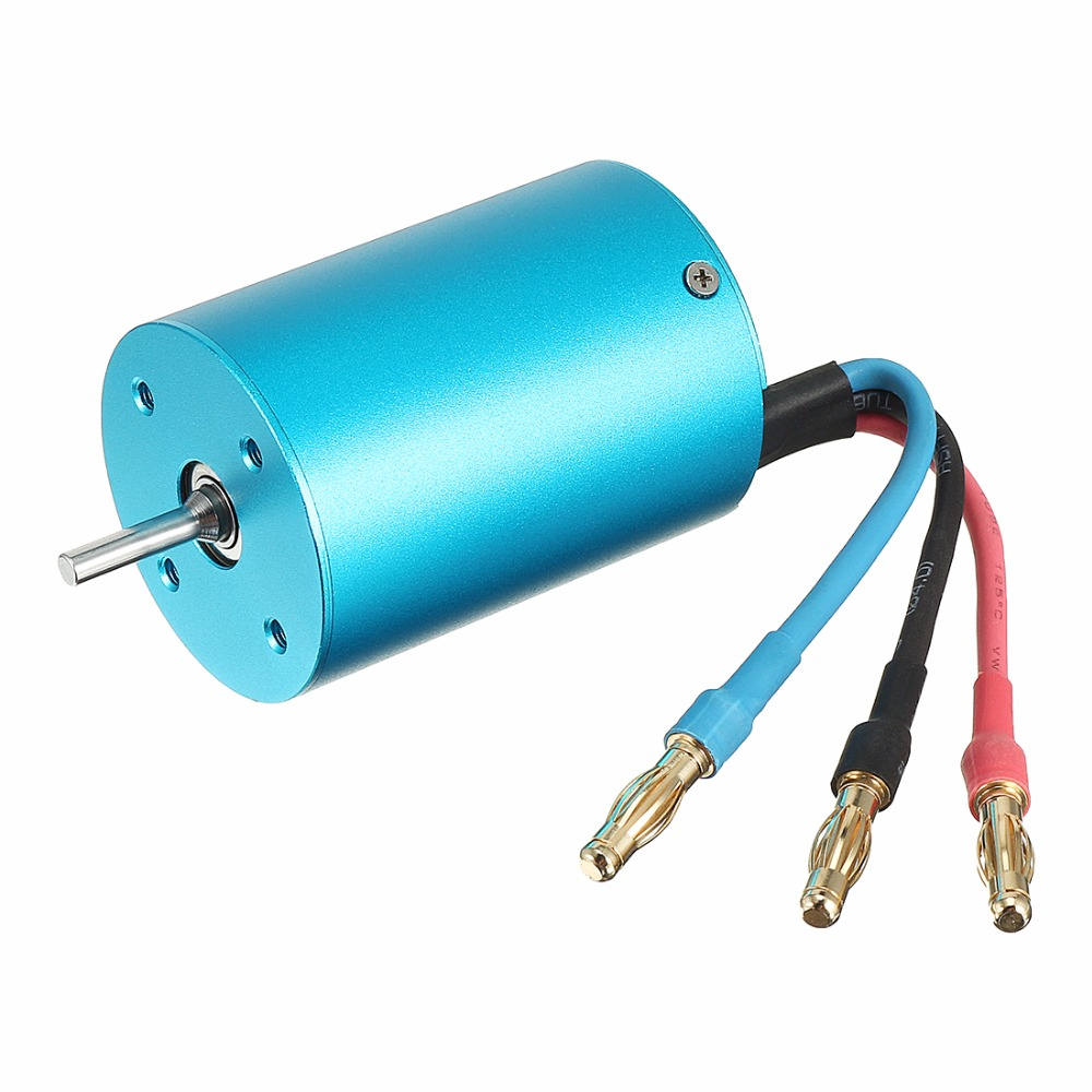 UXCELL XTI-3650/3Y 36 Series 3650 4Poles 2450KV Brushless Motor for 1/10 RC Car Boat Blue High Quality все цены