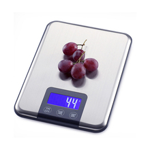 Heißer Verkauf 15 KG 1g touchscreen Digitale Küchenwaage 15 kg Big Küche-nahrungsmitteldiät-gewicht-balance-skala Dünne Edelstahl stahl Elektronische Waagen