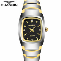GUANQIN Women S Fashion Oval Quartz Watch Ladies Series Jewelry Luxury Tungsten Steel Business Bracelet Watches