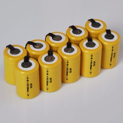 10-16PCS 1.2V 4/5SC rechargeable battery 1800mah 4/5 SC Sub C ni-mh nimh cell with welding tabs for electric drill screwdriver
