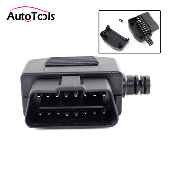 Car OBD2 Connector 16pin Male Plug 16 Pin OBD II OBD2 Diagnostic-tool cable Terminal Connector Plug image