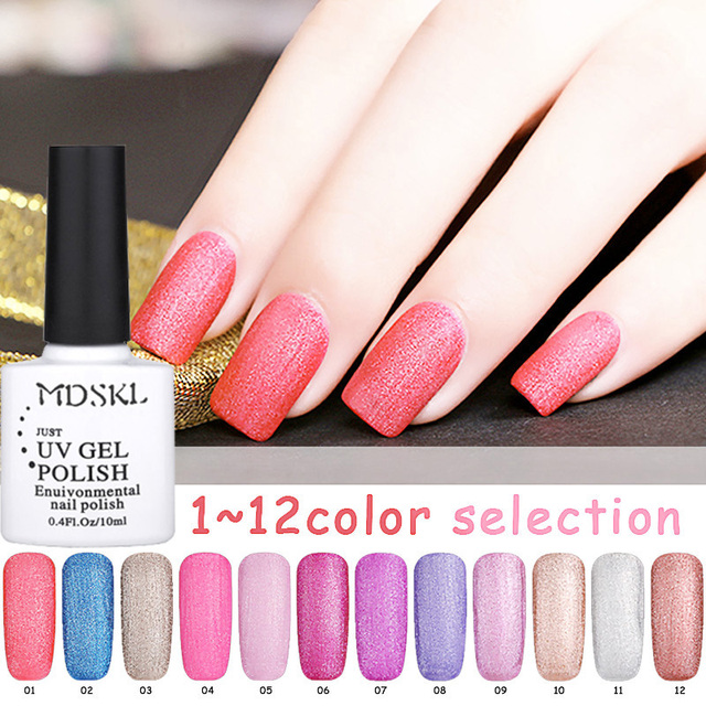 Mdskl 12 Colours Matte Nail Polish High Quality Quick Dry Transpa Color For Gel Lacquer