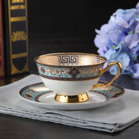 Office Coffee Cup Born China Ceramic Handmade Coffee Cup Saucer Sets Fashion Gift for Friends Girls Gentleman