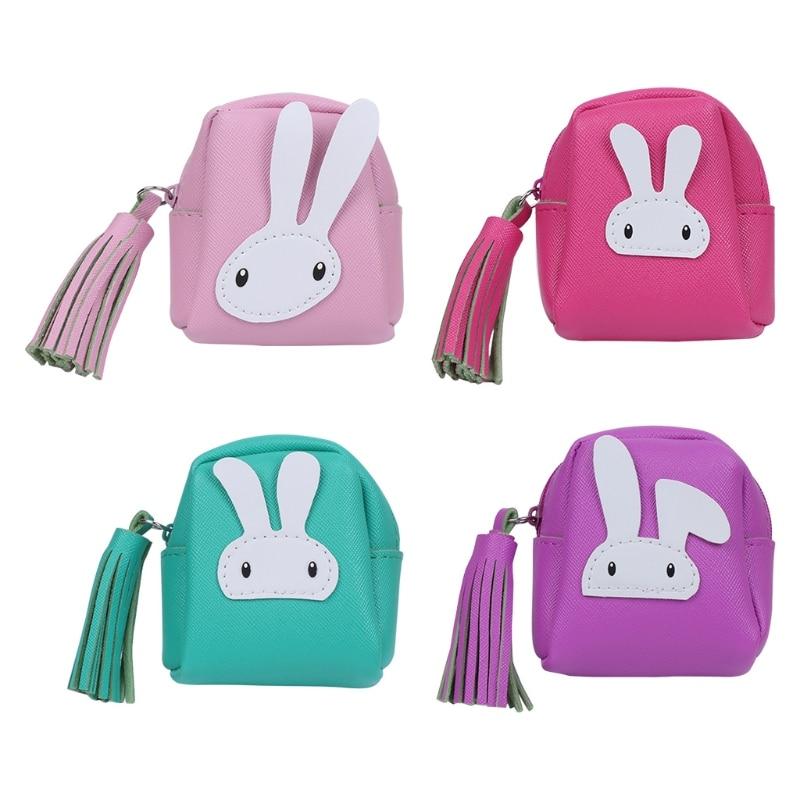 THINKTHENDO Change Coin Purse Women Girl Children Wallet Mini Zipper Bag Hot New Fashion Cute PU Leather Small Handbags