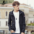 Pioneer Camp spring autumn Men  thin Jacket Men Hoody Jacket male black Jacket High Quality brand clothing 677118