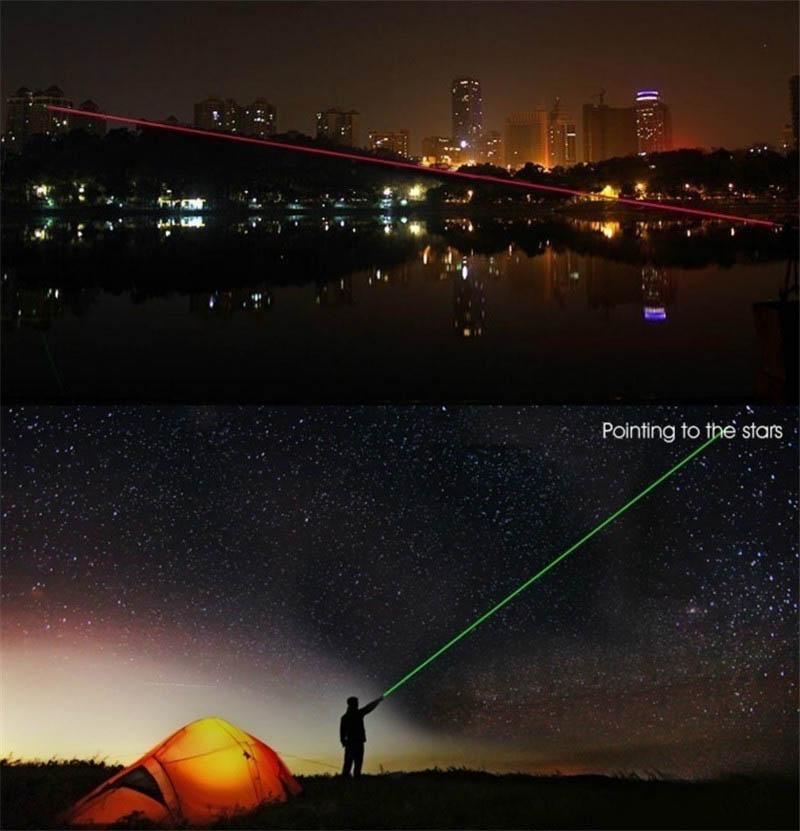 Lazerinis plunksnakočio matymo lazeris 5MW galingas žalios, - Medžioklė - Nuotrauka 5