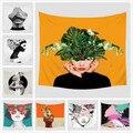Портрет лицо Печатный узор гобелен настенная декоративная отделка путешествия пикника пляж шаль Кемпинг богемное одеяло