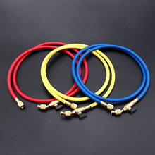 3Pcs R134A AC Charging Hose /w Ball Valves R410A Refrigerant Charge With Strong Connectors 60 inch