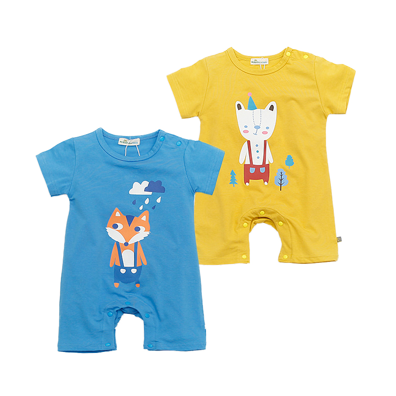 Cute Animal Baby Rompers Summer Baby Boys Clothing Toddler Baby Boys Girls Clothes Roupa Infant Jumpsuits Newborn Baby Clothes baby clothing infant baby kid cotton cartoon long sleeve winter rompers boys girls animal coverall jumpsuits baby wear clothes
