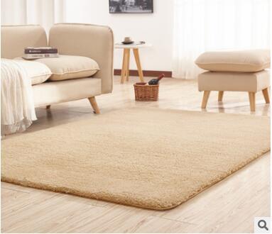 US $3.59  Living Room Rug Area Solid Carpet Fluffy Soft Home Decor White  Plush Carpet Bedroom Carpet Kitchen Floor Mats White Rug Tapete-in Mat from  ...