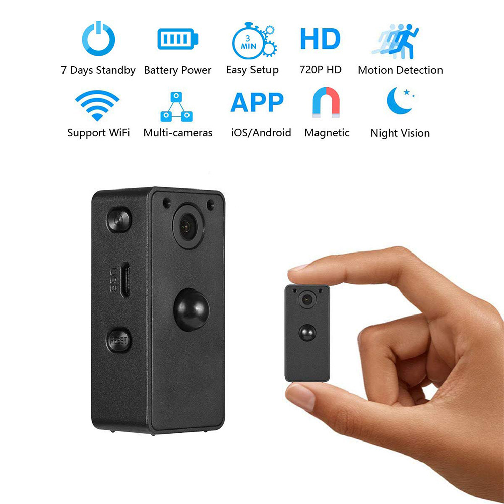 Wifi IP Mini Camera 720P HD PIR Secret Camera 7 Days Standby Micro DVR Cam Nigth
