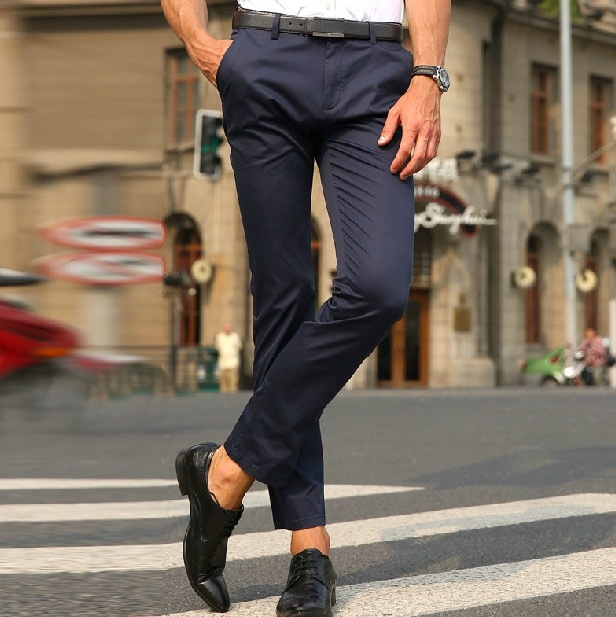 MWAMI High Quality 2015 Men Summer Autumn 78% Cotton Business Super Slim Formal Suits Long Pants Young Man Wedding Groom Casual