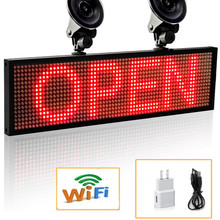 2018 Portable 12v P5 Smd Red WiFi Indoor LED Signage Storefront Open Programmable Scrolling Display Board