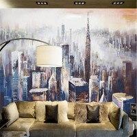 Wallpapers Youman custom modern 3d photo non woven wallpaper wall mural 3d wallpaper New York City landscape painting sofa