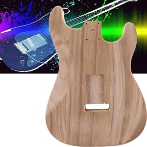 Tooyful Wood Handcrafted Sanding Electric Guitar Replacement Unfinished Body for Electric Guitar DIY Accessories 32.7 x 43 x 4cm