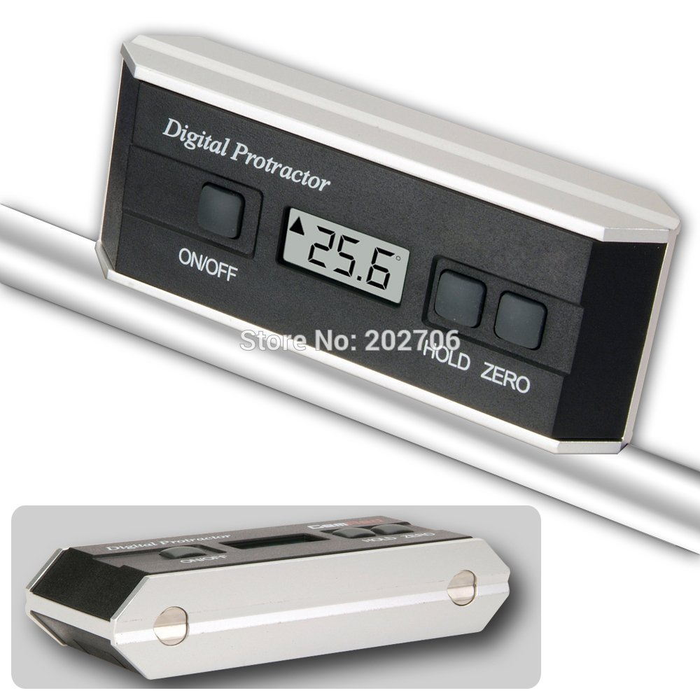 Digital Protractor Inclinometer Angle Slope Measuring Device 4 x 90 with V Groove Magnet Base Gauge
