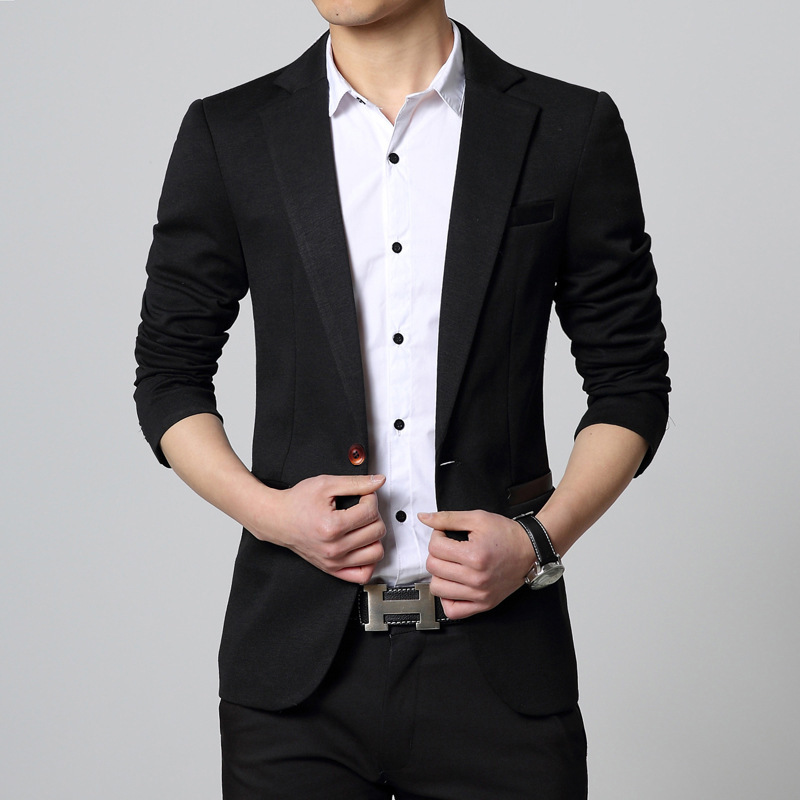 Mens Fashion Slim Fir Blazers Casual Blazer Masculino Slim Suit ...