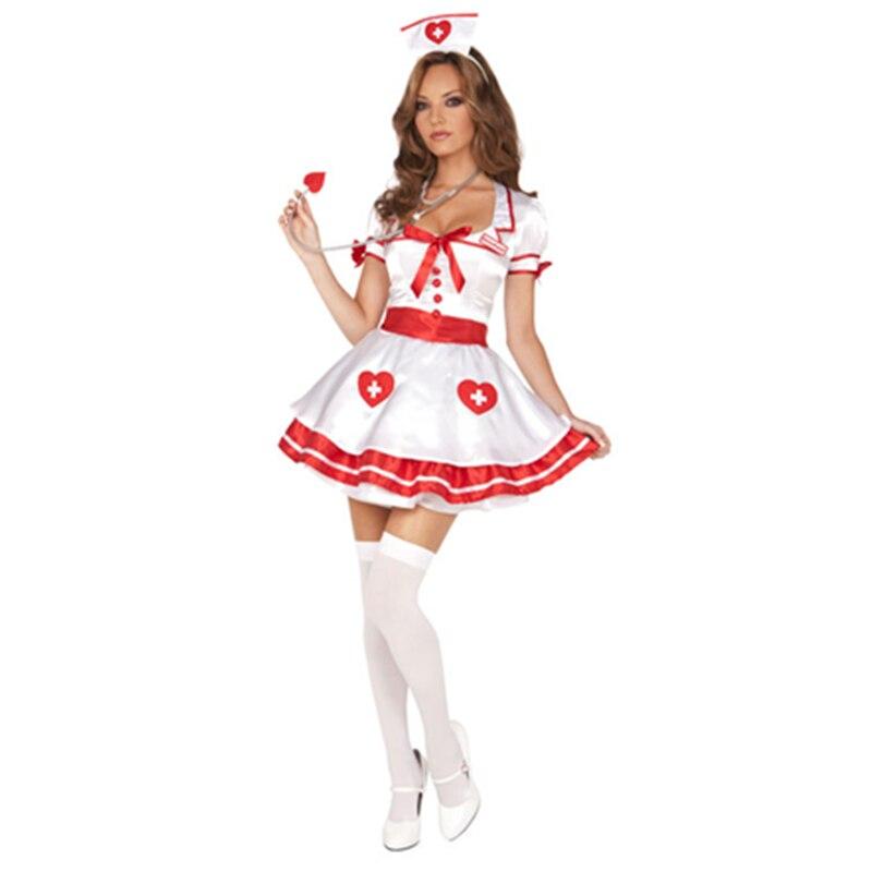 Ladies Nurse Uniform Doctor Medical Fancy Dress Up Hens Party Costume