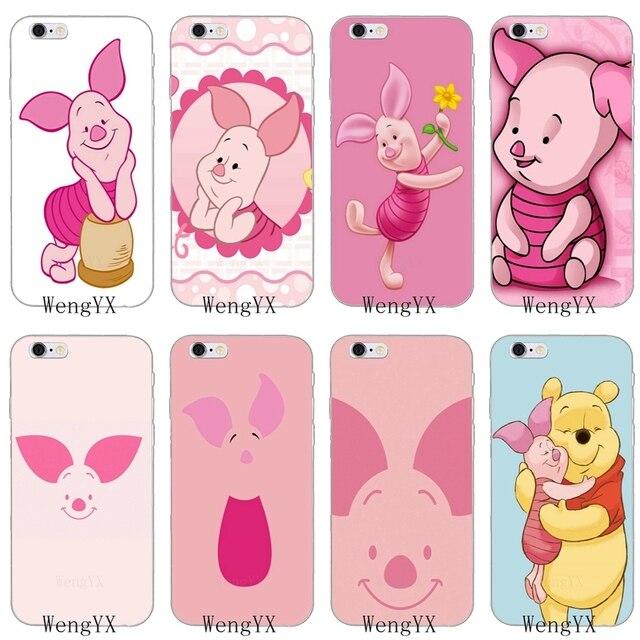 cute cartoon piglet winnie the pooh slim soft phone case for xiaomi