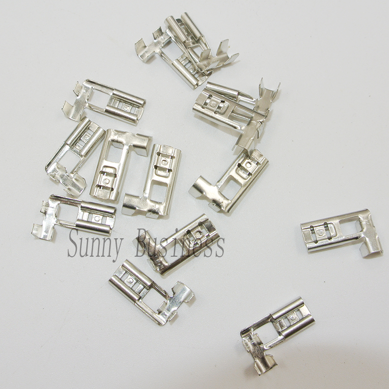 10 X HEAT RESISTANT FEMALE SPADE FLAG ANGLE CONNECTOR CRIMP TERMINAL 6MM SIZE