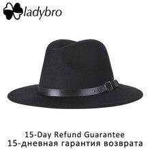 Gorro de lana de imitación para mujer sombrero Fedora para hombres sombrero  de ala ancha Otoño Invierno Sombreros Jazz gorra hom. 8596acaaff6c