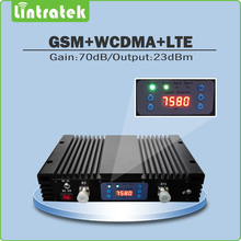 Tri Band 2G/3G/4G High Gain 70dB Mobile Signal Booster GSM900+ UMTS 2100+LTE2600 Signal Repeater with lcd display and AGC/MGC