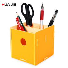 Office Organizer Square Pen Pencil Holders Container Desktop Storage Box Cosmetic Holder Student Gift School Supplies HJ9968 недорого