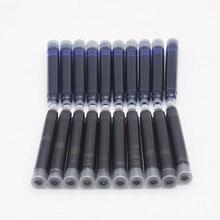 Цена 10 шт одноразовая синяя и черная авторучка чернильный картридж заправка длина авторучка чернильный картридж заправка