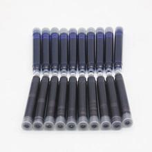 Cena hurtowa 10 sztuk jednorazowe niebieski i czarny wieczne pióro wkłady wkłady długość wieczne pióro wkłady wkłady tanie tanio Pisanie Iraurita Z tworzywa sztucznego Luźne Inne metale Standardowy typ
